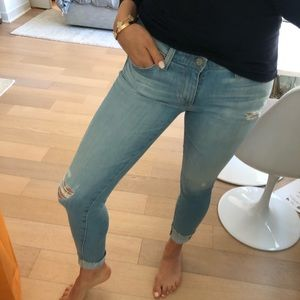 AG Jeans low to mid rise light wash 26R